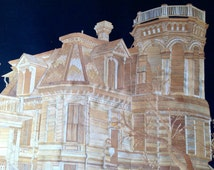 Trube Castle. Galveston, Texas  handmade with rice straw. Have you seen ancient leaf art.