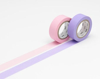 mt Washi Masking Tape - Rose Pink & Lavender - Set 2