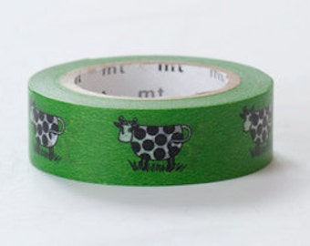 mt Washi Masking Tape - Green Cows - Lisa Larson