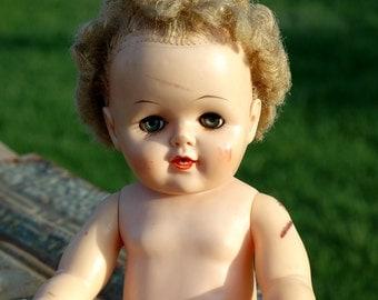 vintage c. 1950 rubber doll...  T5 L