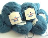 Turquoise Teal Pingouin Mousse brushed acrylic knitting crochet yarn deSTASH