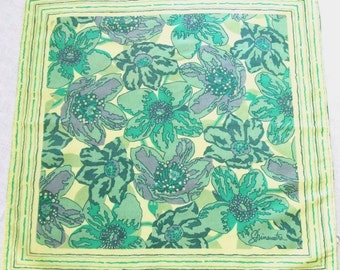 Thai Silk Scarf Tropical Flowers Shinawatra Vintage
