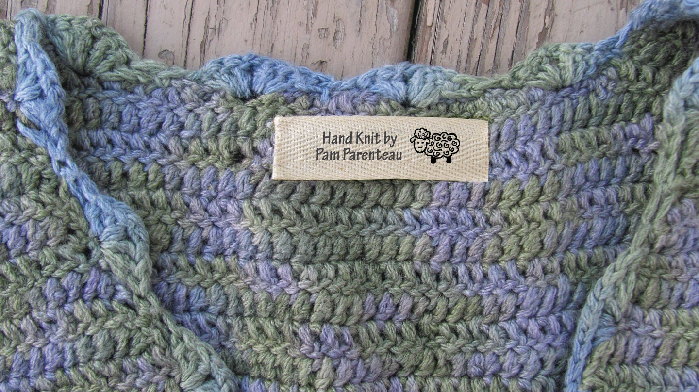 Knitting Labels Canada : Personalized knitting labels sheep from
