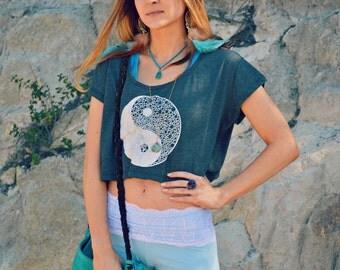 modern yin yang crop top