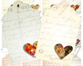 Shabby Chic Tags for scrapbook and more igital collage sheets No.1091