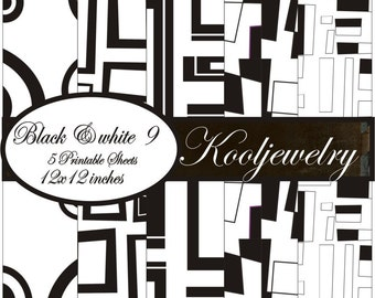 Black and white 9 Paper Pack - No. 99