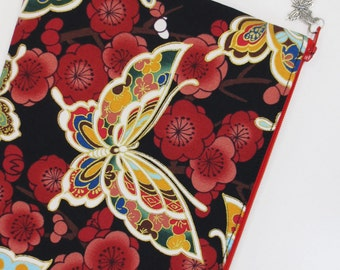 Butterfly & Plum Blossom iPad mini Case/ Zipper Pouch