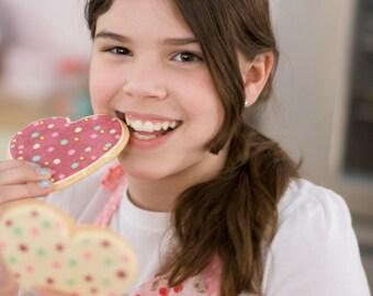 Valentine cookies-Jumbo heart cookies-Giant heart sugar cookies -heart cookies-valentines day cookies