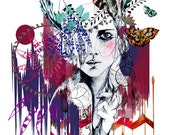 Tribal Girl // A2 Giclée print // FASHION ILLUSTRATION by Holly Sharpe