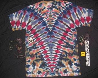 Medium, 'V', Navy Amethyst, Hand-Dyed Original, Short Sleeve