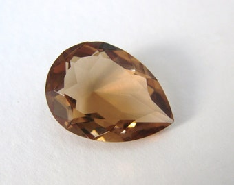 Vintage Swarovski Crystal Rhinestone Smoked Topaz Pear Jewel 20x15mm swa0413 (1)
