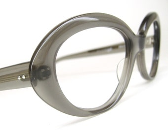 Vintage 60s Gray Cat eye Eyeglasses Frame NOS
