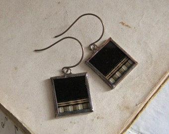 Movie Film Repurposed Earrings One of a Kind Jewelry