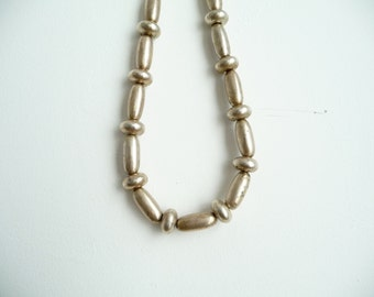 Vintage Metal Necklace /  Vintage Silver Necklace / Chunky Vintage Necklace