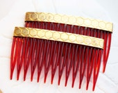 Set of 2 Honey Comb Hair Accessories
