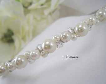 Pearl Tiara with Crystal Accents