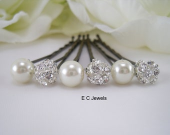 Elegance and Pearls Hairpins