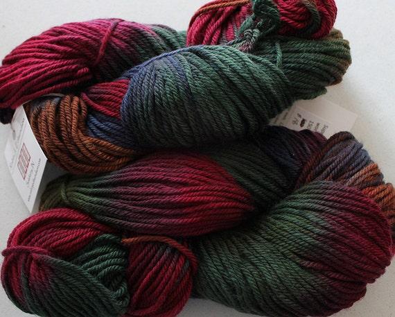 SALE: Hand dyed Superwash Wool Yarn, worsted - Iris