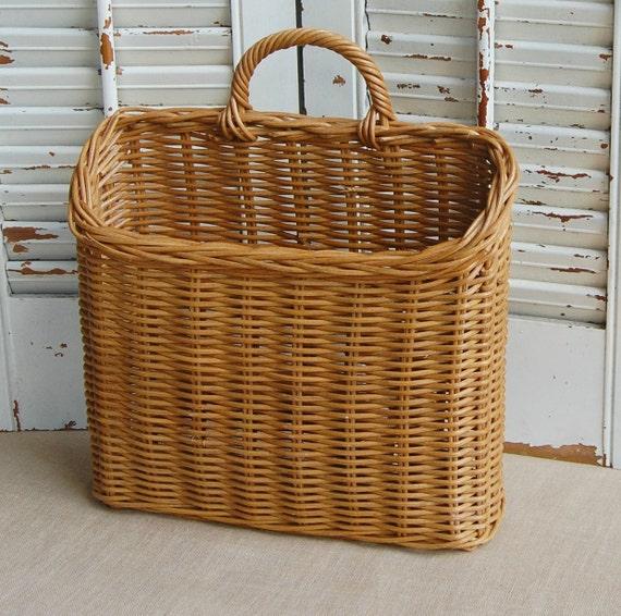 Vintage Wall Basket Wicker Basket Hanging Basket