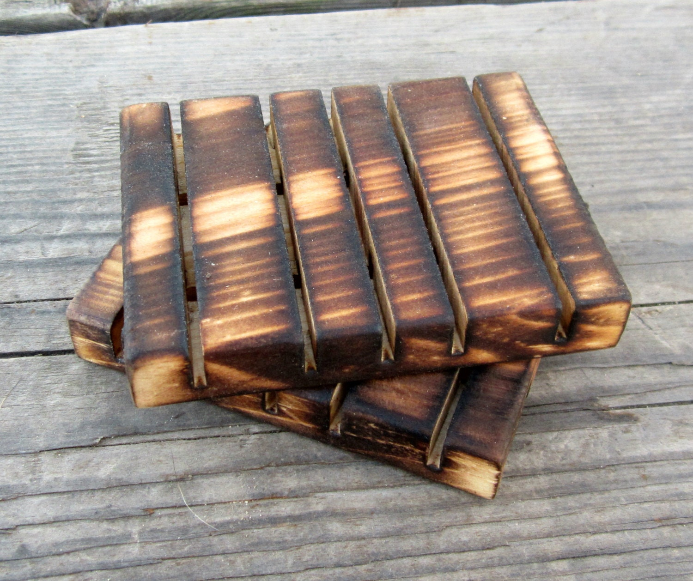 rustic bathroom decor wood soap dish set rustic kitchen