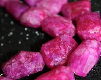 Pink Moonstone Nuggets - 1/2 strand