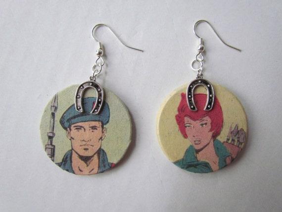 GI Joe's Lady Jaye and Flint Earrings
