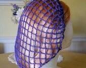 Violet Snood Hair Net