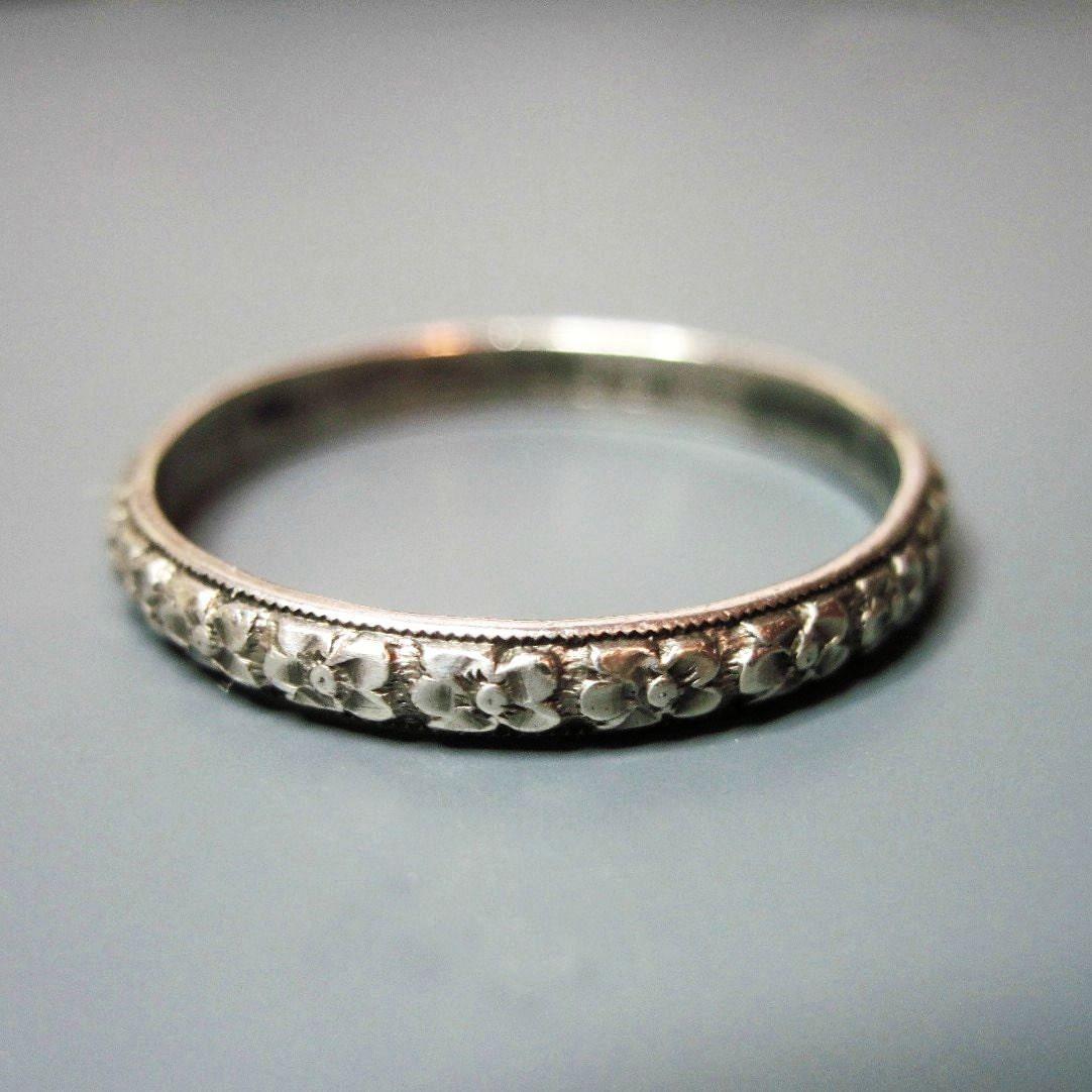 Mens vintage art deco wedding band ring uncas sterling for Mens vintage wedding ring