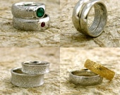 Order Your Pair of Personalized and Custom Made Finger Print Wedding Bands