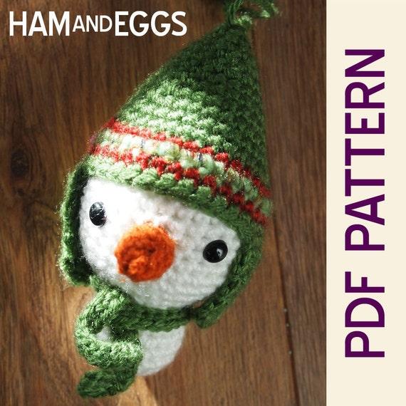 Amigurumi Snowman Ornament : Amigurumi Crochet Smiley Snowman Stocking Stuffer or by ...