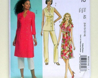 Elegant Ladies' Dresses, Tunics, and Pants - McCalls 5672 - Out-of-Print Sewing Patterns, Sizes 6, 8, 10, 12, and 14