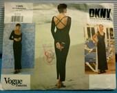 Vogue Donna Karan New York Dress Pattern 1994 Uncut 12-14-16 M/L