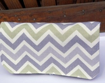 40% Off Coupon Organizer Budget Organizer Holder Attaches To You Shopping Cart  Reed Gray Green Natural  Chevron Decor Fabric