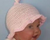 Knitting Pattern Digital pdf download - Baby Simple Stripe Sunhat knitting pattern