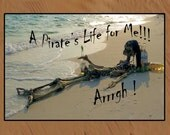 A pirate's Life for me funny pirate skeleton indoor-outdoor Bar Floor Mat