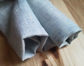 Blue Linen Yarn Dyed Towels