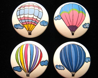 8 Hot Air Balloons Drawer Knobs