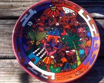 Art, 3 D: Terracotta Painted Scenic, Peru