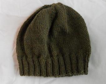 Men's Wool Winter Hat - Moss Green