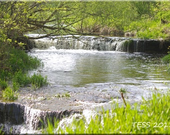 Waterfall Photography -  River Photo - Landscape Photography - Woodland Scene