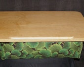 Large Wooden Lap Desk with Choice of Fabric and Wood
