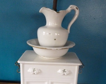 SALE Antique 1950s Porcelain Lamp Base, Girl's Room, Fixer Upper