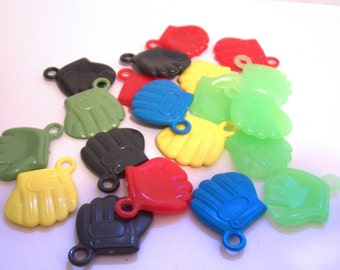 12 Baseball  Glove Gumball Charms