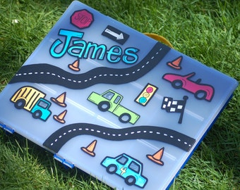 hand painted, personalized car case