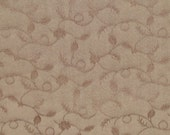 Dark Brown Damask Decorator Weight Fabric - 1 Yard and 2""
