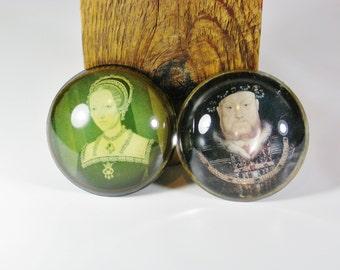 Set of Royal Tudor paperweights