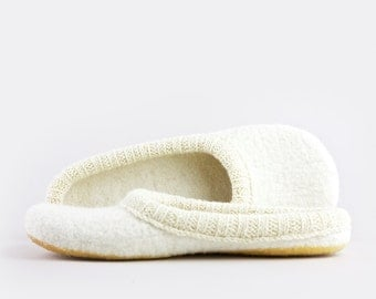 Simple and Eco friendly felted wool slippers Handmade to Order