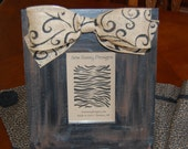 Distressed Swirl  Wooden Picture Frame