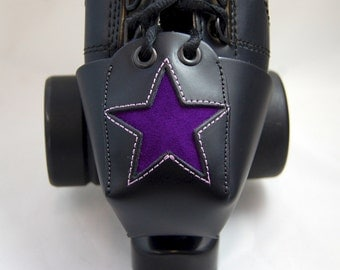 Leather Toe Guards with Purple Suede Stars