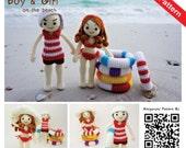 PDF Pattern - Amigurumi Beach Boy & Girl (Summer Set)